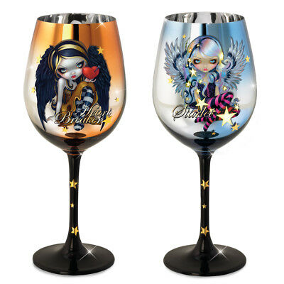 Wine Glass Set of 2 Fairy Wings of Enchantment Jasmine Becket-Griffith
