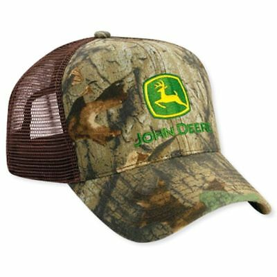 JOHN DEERE *ADVANTAGE TIMBER CAMO* Twill w/MESH BACKING CAP HAT *BRAND NEW*