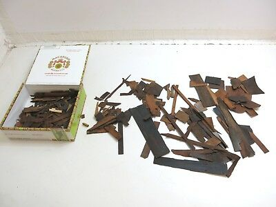 Large Lot Of Antique 1800's Era Old Veneer Pieces From Clocks