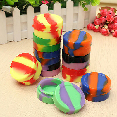 10Pcs 22ml Round Silicone Container Non Stick Jars Dab For Concentrate Oil Wax