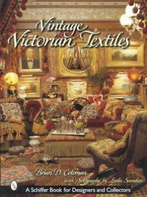 Book Vintage Victorian Textiles Pillows Emboidery