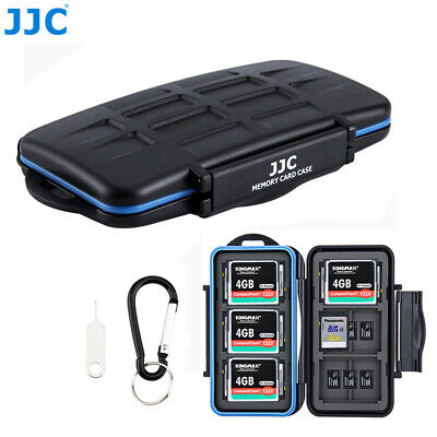 JJC 36 Slots Memory Card Case Box with Carabiner Stores 18xMSD 12xSD 6xCF Cards