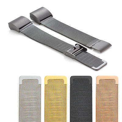 Luxe Metal Stainless Steel Milanese Mesh Watch Strap Band for Fitbit Charge 2