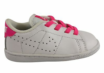 New Nike Tennis Classic Premium Toddler Girls Leather Lace Up Shoes