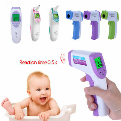 Non-contact For Baby Portable Forehead Ear Thermometer Handheld  Infrared