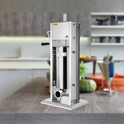 7L Vertical Commercial Sausage Stuffer 2 Speed 304 Stainless Steel Meat Press