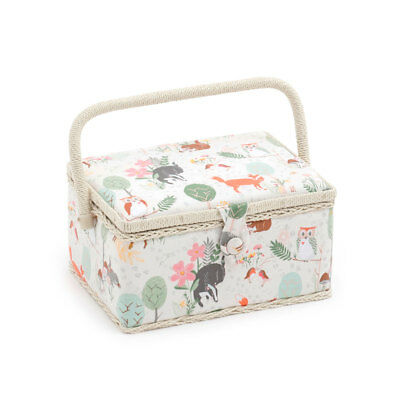 HobbyGift MRM285 | Woodland Medium Sewing Box | 18.5 x 26 x 15cm