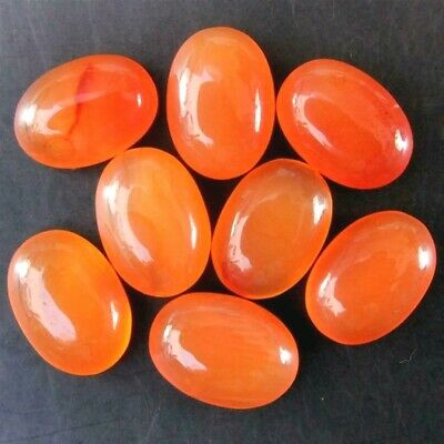 Wholesale Lot of 8x6mm Oval Cabochon Natural Carnelian Loose Calibrated Gemstone