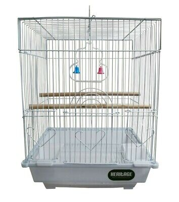 Heritage Cages Warwick Budgie Finch Bird Cage 30x23x39CM Budgies Canary Small