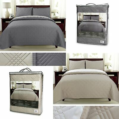 3 Piece Oxford Embossed Reversible Coverlet Set Queen / King by Ardor