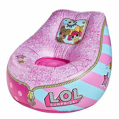 Lol Surprise Inflatable Chill Chair Kids Bedroom Playroom Pink