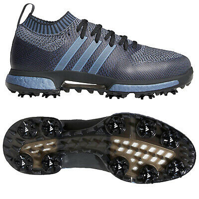 Adidas Mens Tour360 Prime Knit Limited Edition Golf Shoes -Blue Boost Waterproof