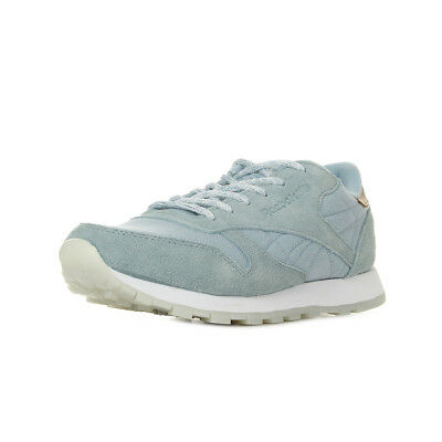 47157615140 Chaussures Baskets Reebok femme Classic Leather Sea-Worn taille Bleu clair  Bleue