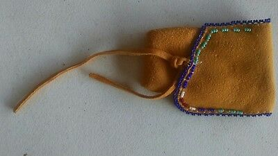 New Beautiful! Native American Crow Indian Medicine Bag Pouch #7