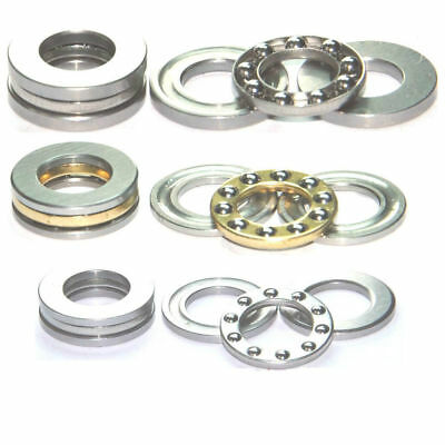 5-50pcs Axial Ball Thrust Bearing F2-6M to F12-23M Mini Plane Bearing 3-Parts