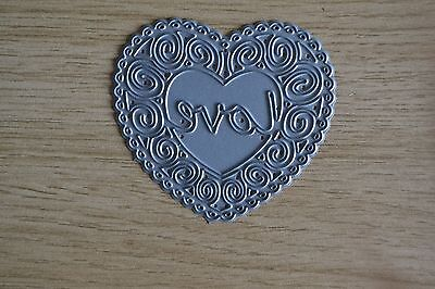 A18 Metal Cutting Die Large NAPPY PIN WITH HEART Diaper Baby