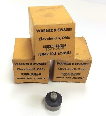 Lot of 3 Warner & Swasey 1371-5001 Cam Followers Needle Bearing Turner Roll Assy