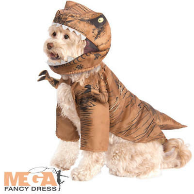 T-Rex Pet Fancy Dress Jurassic World Dinosaur Dog Halloween Costume Outfit