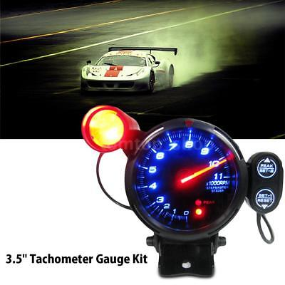 """3.5"""" Tachometer Gauge Kit LED Auto Car Meter with Shift Light+Stepping Motor RPM"""
