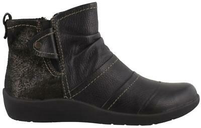 Earth Origins Liberty  Boots Leather Womens Ankle Boots  Low Heel