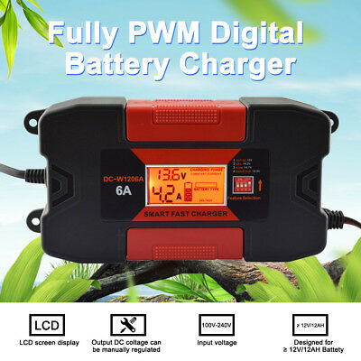 6A 12V Auo Car Smart RoHs Battery Charger With CE O8A7