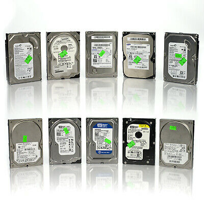 """Lot of 10 Assorted Dell HP WD Seagate 80GB 3.5"""" SATA Hard Drives Tested & Wiped"""