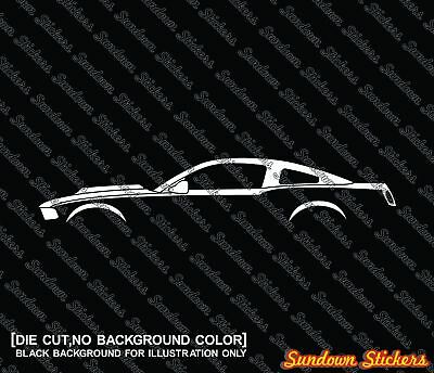 2X Car silhouette stickers - for Ford Mustang shelby GT500 2010-2014
