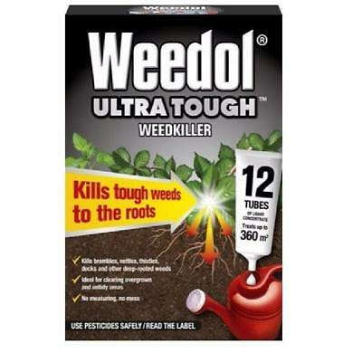 Weedol Ultra Tough Liquid Concentrate Weedkiller - 12 Tube Pack