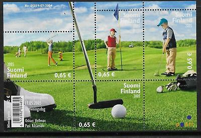 FINLAND 2005 GOLF Souvenir Sheet MNH