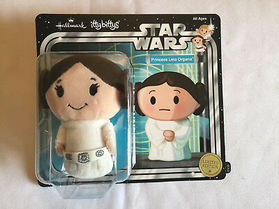 Star Wars PRINCESS LEIA ORGANA Hallmark Itty Bittys plush toy figure - mint