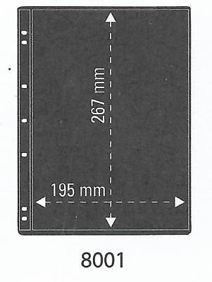 PRINZ PRO-FIL 1 STRIP BLACK STAMP ALBUM STOCK SHEETS Pack of 15 Ref No: 8001