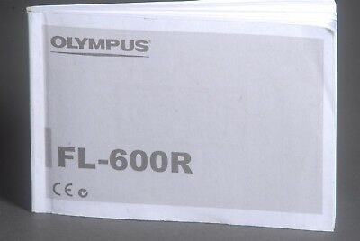 Olympus FL-600R Camera Flash Instruction Book / Manual / User Guide