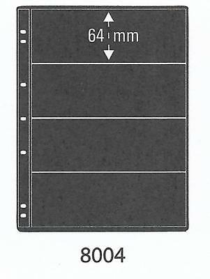 PRINZ PRO-FIL 4 STRIP BLACK STAMP ALBUM STOCK SHEETS Pack of 50 Ref No: 8004