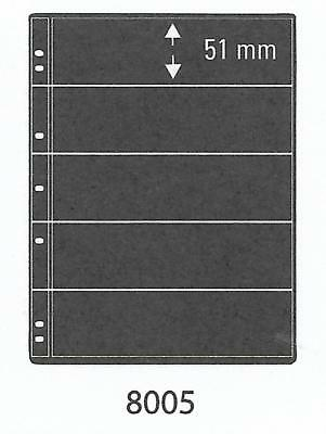 PRINZ ProFil 5 STRIP BLACK STAMP ALBUM STOCK SHEETS Pack of 50 Ref No: 8005