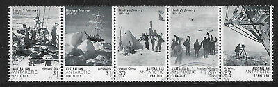 AUSTRALIA ANTARCTIC AAT 2016 HURLEY'S JOURNEY VOYAGE Strip of 5 FINE USED (No 1)