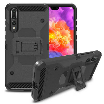 Hybrid Armor Case Heavy Duty Shockproof Belt Clip Cover For Huawei P20 /P20 PRO