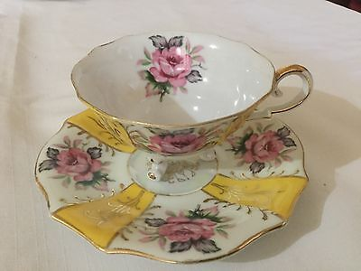 Made In Japan 3 Legged Cup And Saucer. Japan