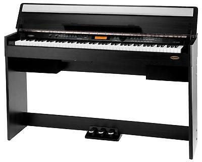 88-Tasten Modernes Design Digital Piano E-Piano Keyboard USB MIDI schwarz matt