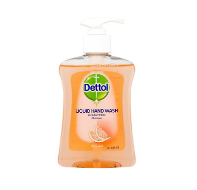 Dettol Moisture GRAPEFRUIT Anti-Bacterial LIQUID HAND WASH 250ml