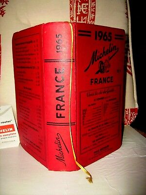 GUIDE MICHELIN 1965< GUIDE ROUGE COLLECTOR  FRANCE >1014 pages- EXCELLENT ETAT .