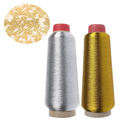 New Metallic Embroidery Thread With Paper Cone Golden Silver Color LG