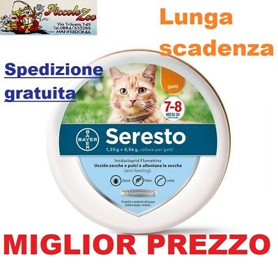 Seresto Bayer collare antiparassitario antipulci per gatto SCAD 2023 NEW
