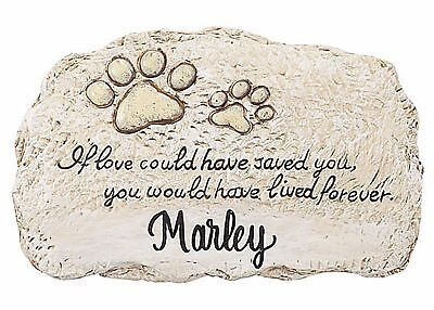 Pet Memorial PERSONALIZED Paw Prints Grave Marker Tomb Stone Dog Cat Animal NEW