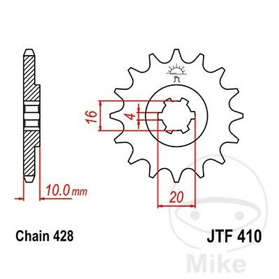 JT Front Sprocket 14T 428 Pitch JTF410.14 Sachs XTC 125 4T 2002-2007