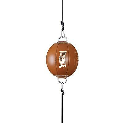New Lonsdale Boxing Vintage Brown Leather Training Floor to Ceiling Ball rrp £90