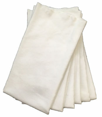 6 soft 100% cotton car auto polishing cloths--Wash and reuse--Will not scratch!