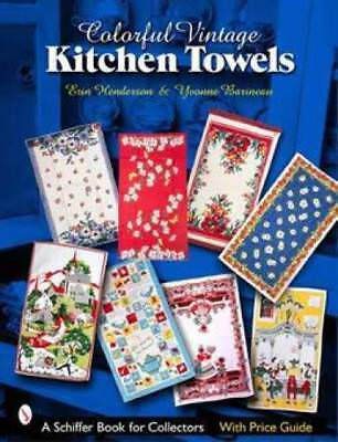 Vintage Kitchen Towels ID$ book Bucilla Broderie Martex