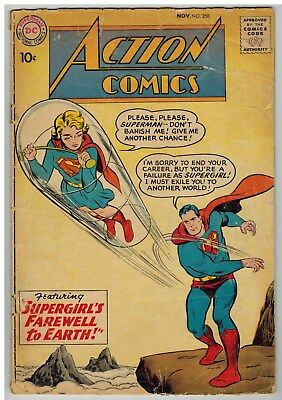 Action Comics #258 1959 Supergirl Story Dc Early Silver Age!