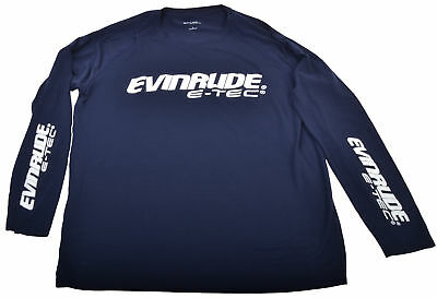 BRP Evinrude Outboard Long Sleeve Navy Ultimate Performance T-Shirt