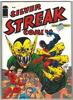 Silver Streak Comics #24 Daredevil Claw Captain Battle Golden Age Reprint!